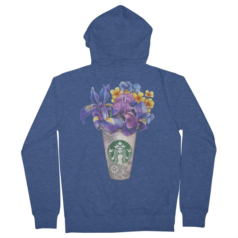 Starbucks Men's Zip-Up Hoody by RayneColdkiss Art