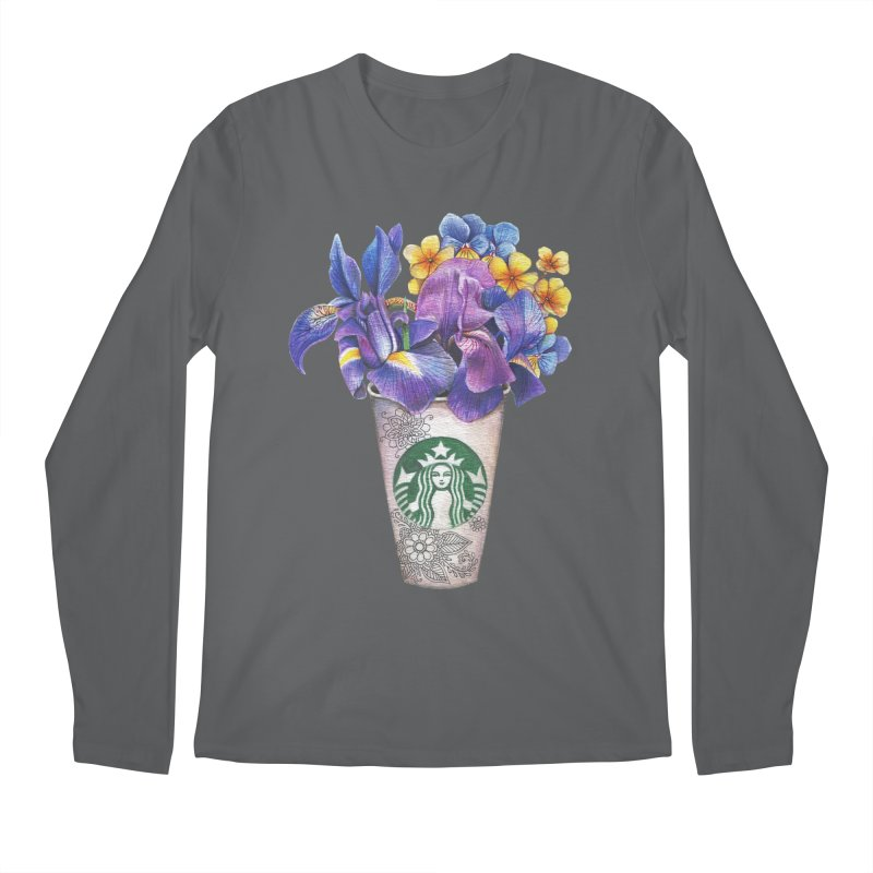 Starbucks Men's Longsleeve T-Shirt by RayneColdkiss Art