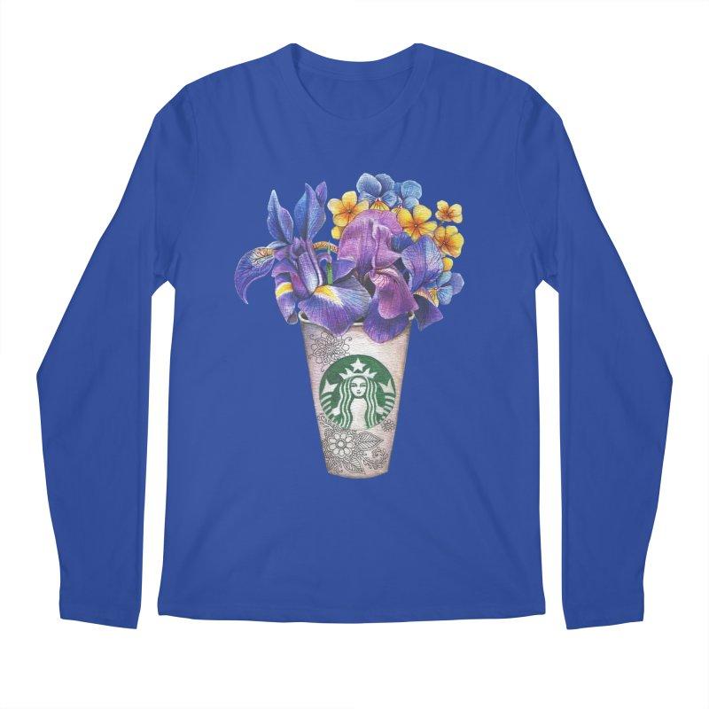 Starbucks Men's Regular Longsleeve T-Shirt by RayneColdkiss Art