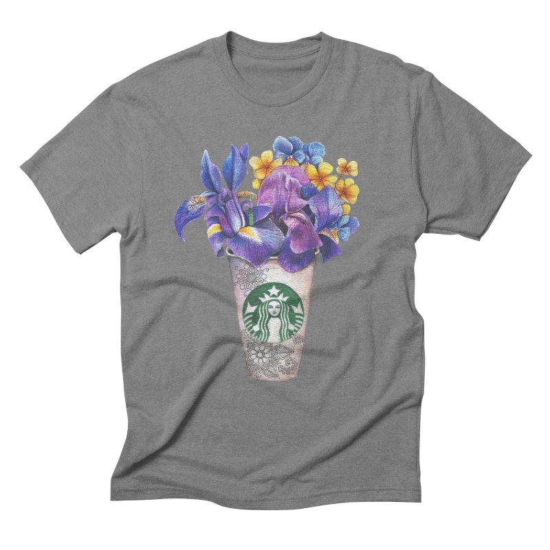 Starbucks Men's Triblend T-Shirt by RayneColdkiss Art