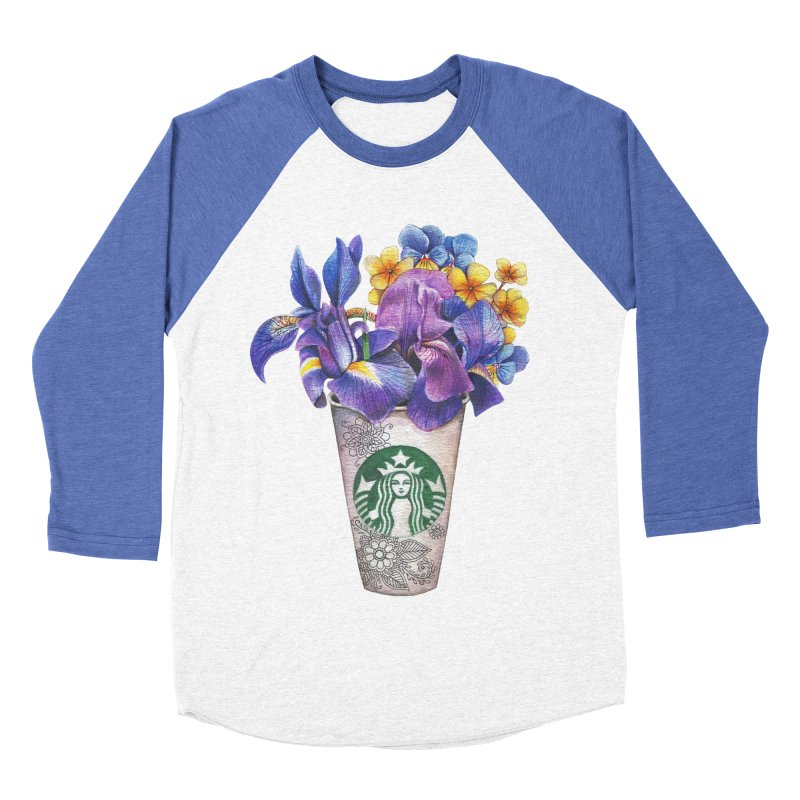 Starbucks Men's Baseball Triblend Longsleeve T-Shirt by RayneColdkiss Art