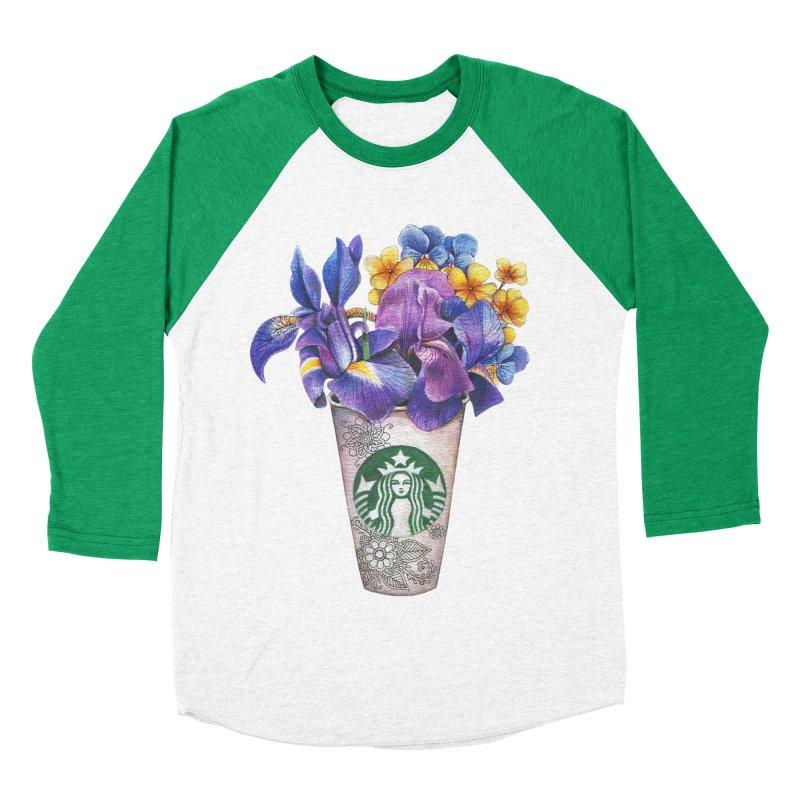 Starbucks Men's Baseball Triblend T-Shirt by RayneColdkiss Art