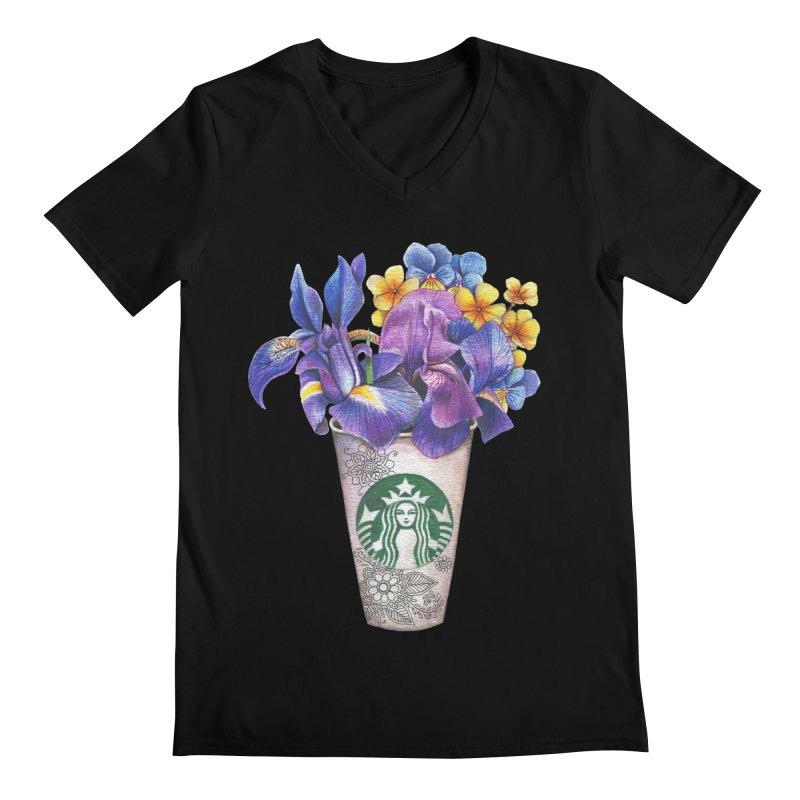 Starbucks Men's V-Neck by RayneColdkiss Art