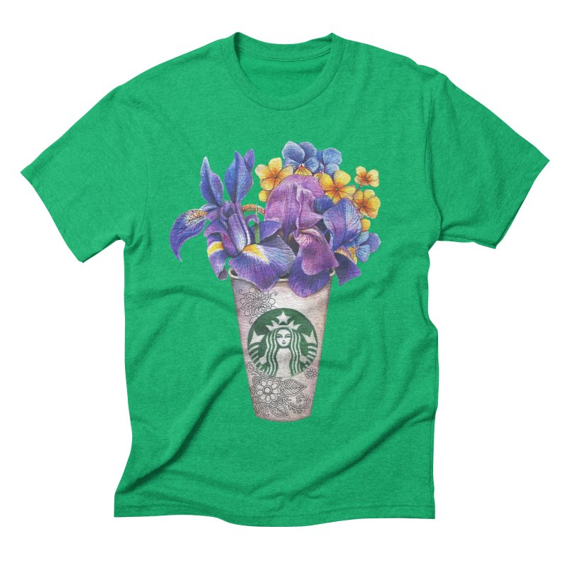 Starbucks Men's Triblend T-shirt by RayneColdkiss Art