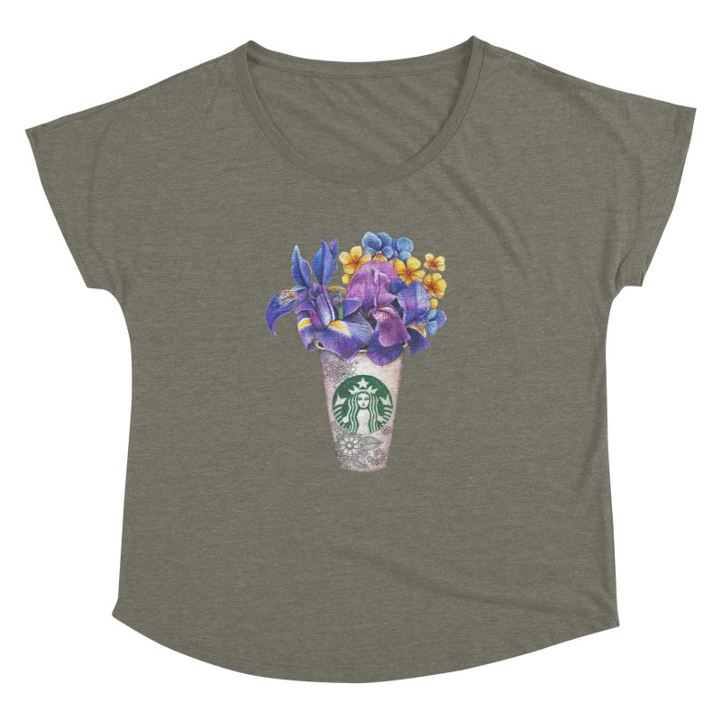 Starbucks Women's Dolman by RayneColdkiss Art