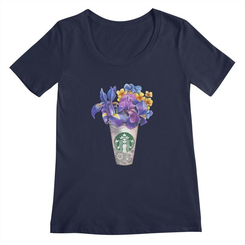 Starbucks Women's Scoopneck by RayneColdkiss Art