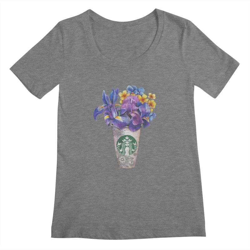 Starbucks Women's Scoopneck by RayneColdkiss Art