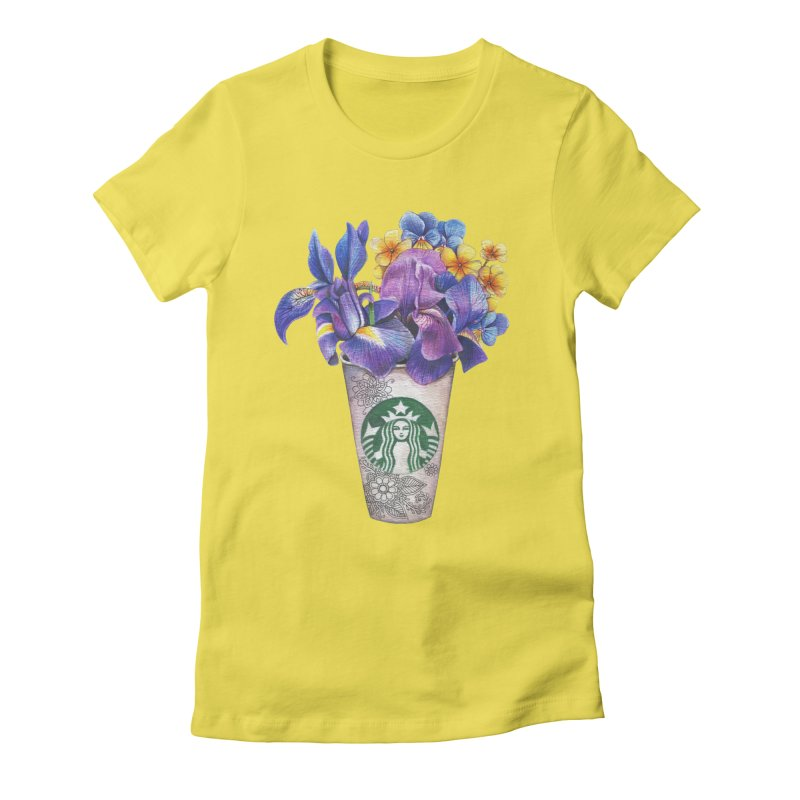 Starbucks Women's Fitted T-Shirt by RayneColdkiss Art