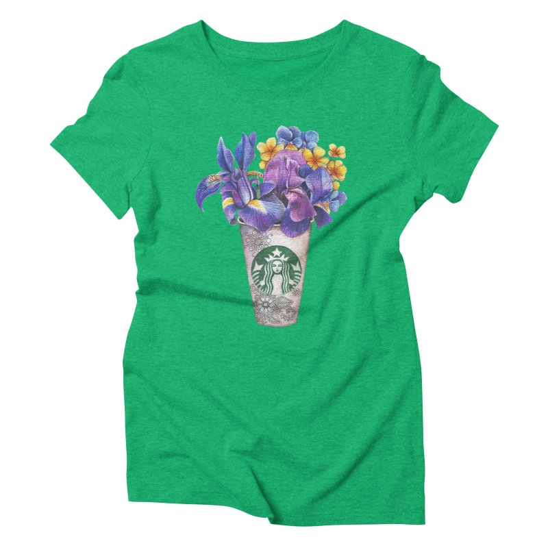 Starbucks Women's Triblend T-shirt by RayneColdkiss Art