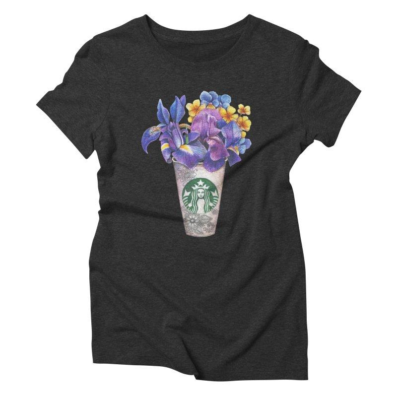 Starbucks Women's Triblend T-shirt by RayneColdkiss Art