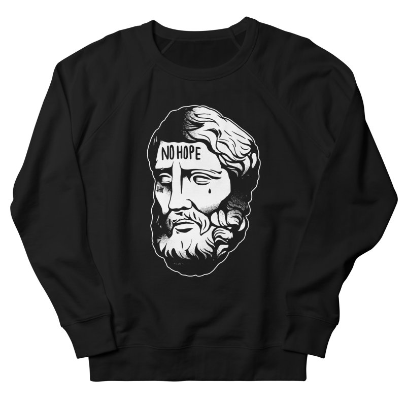 N o H o p e / B l a c k. in Men's Sweatshirt Black by razonable's Artist Shop
