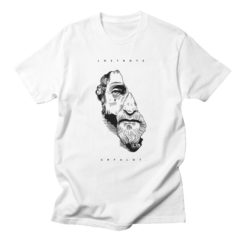 L o s t  B o y s.  in Men's T-shirt White by razonable's Artist Shop