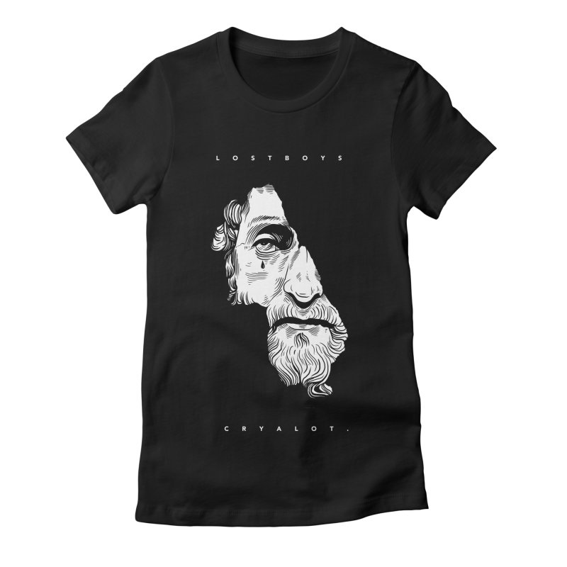 L o s t  B o y s  /  B l a c k. Women's Fitted T-Shirt by razonable's Artist Shop