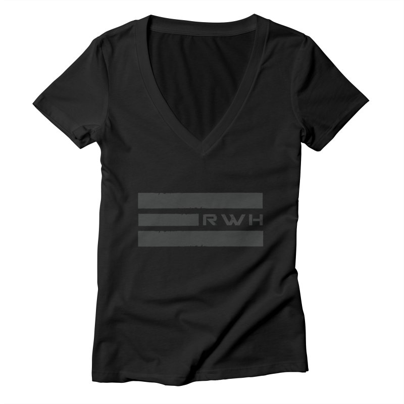 RWH 2020 BLACK Bars Women's V-Neck by Razorwire Halo Gear