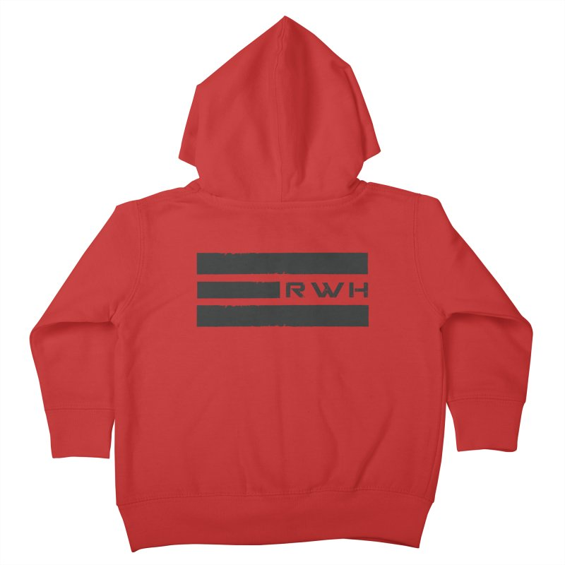 RWH 2020 BLACK Bars Kids Toddler Zip-Up Hoody by Razorwire Halo Gear