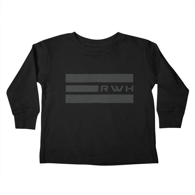 RWH 2020 BLACK Bars Kids Toddler Longsleeve T-Shirt by Razorwire Halo Gear