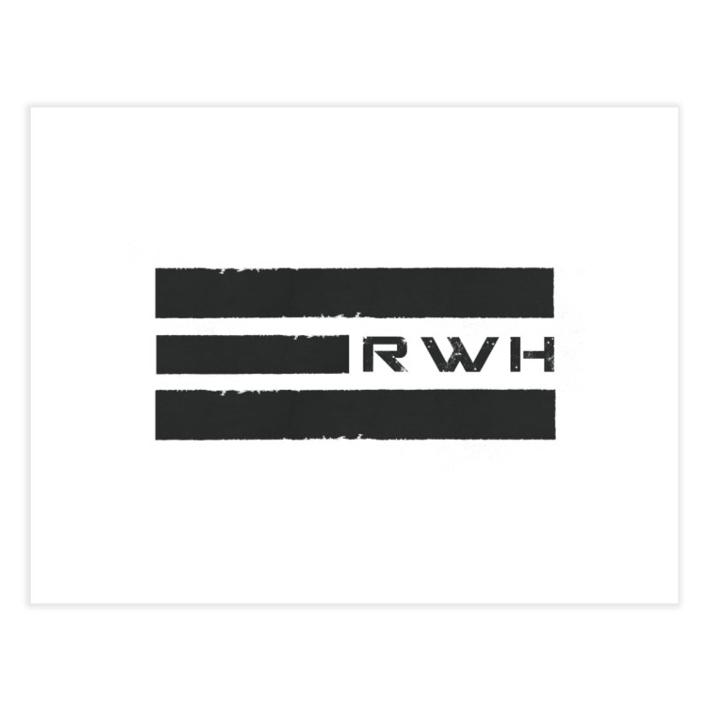 RWH 2020 BLACK Bars Home Fine Art Print by Razorwire Halo Gear