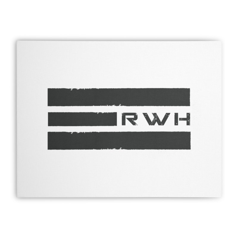 RWH 2020 BLACK Bars Home Stretched Canvas by Razorwire Halo Gear
