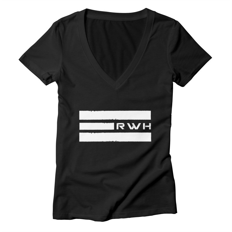 RWH 2020 WHITE Bars Women's V-Neck by Razorwire Halo Gear