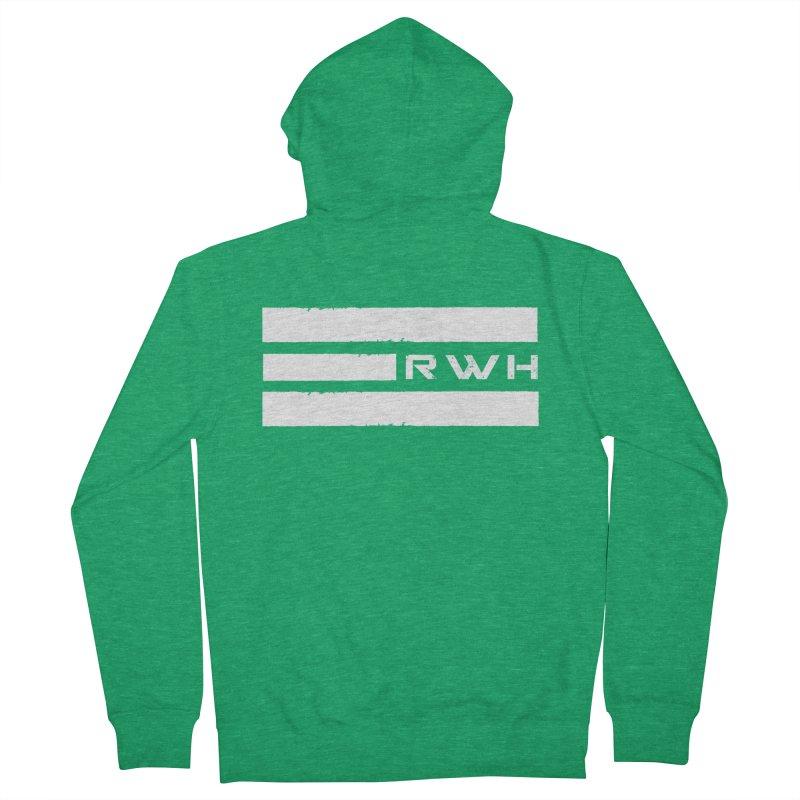 RWH 2020 WHITE Bars Men's Zip-Up Hoody by Razorwire Halo Gear
