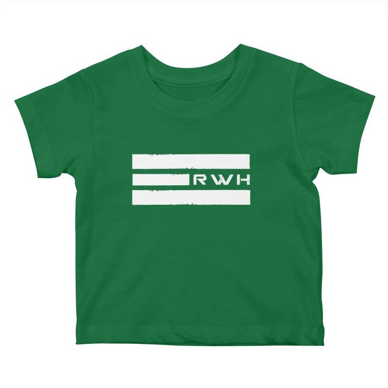 RWH 2020 WHITE Bars Kids Baby T-Shirt by Razorwire Halo Gear
