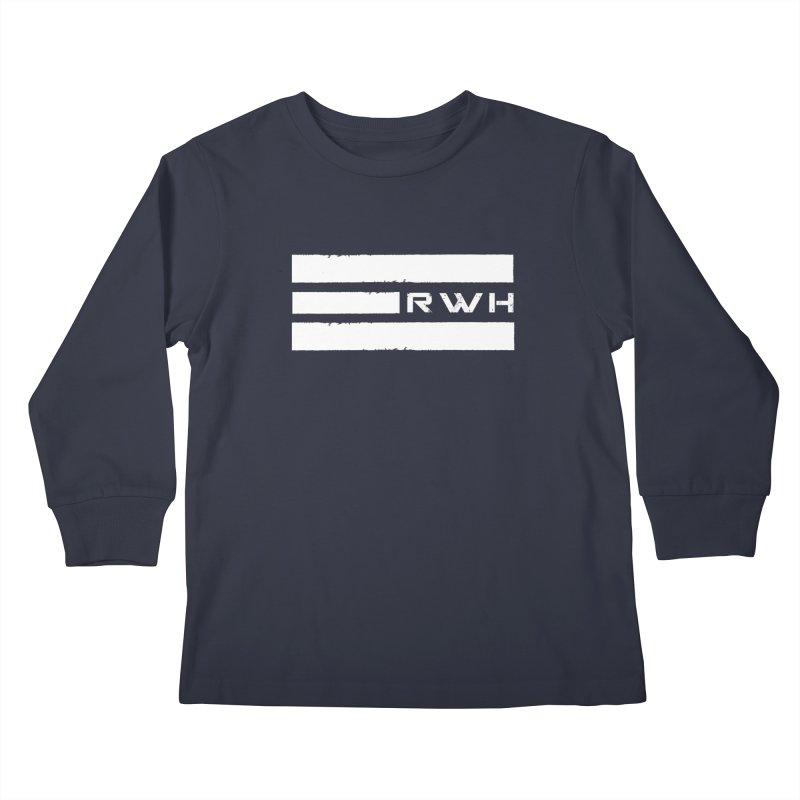 RWH 2020 WHITE Bars Kids Longsleeve T-Shirt by Razorwire Halo Gear