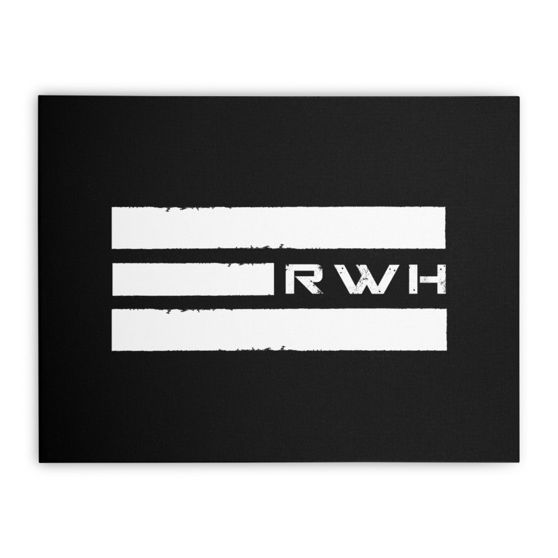 RWH 2020 WHITE Bars Home Stretched Canvas by Razorwire Halo Gear