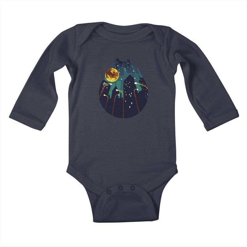 Coming Down Over Me Kids Baby Longsleeve Bodysuit by Razual's Shop