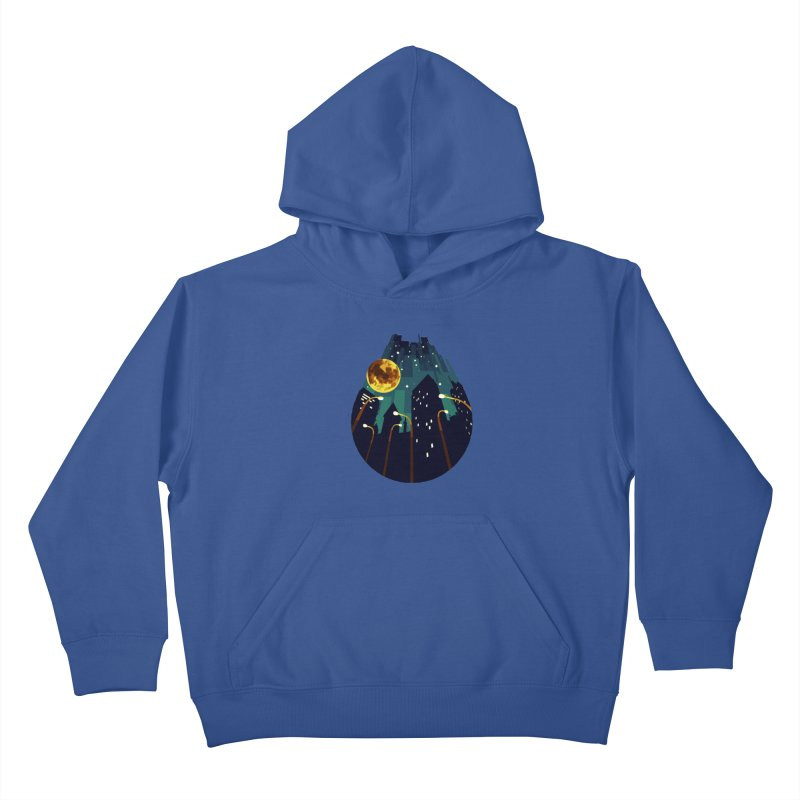 Coming Down Over Me Kids Pullover Hoody by Razual's Shop