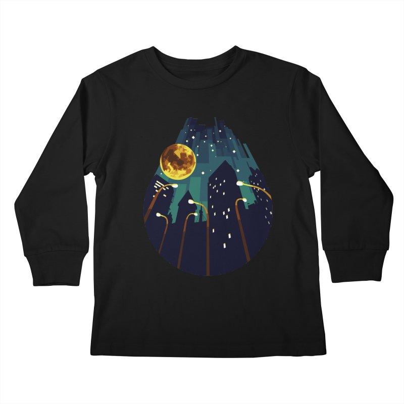 Coming Down Over Me Kids Longsleeve T-Shirt by Razual's Shop