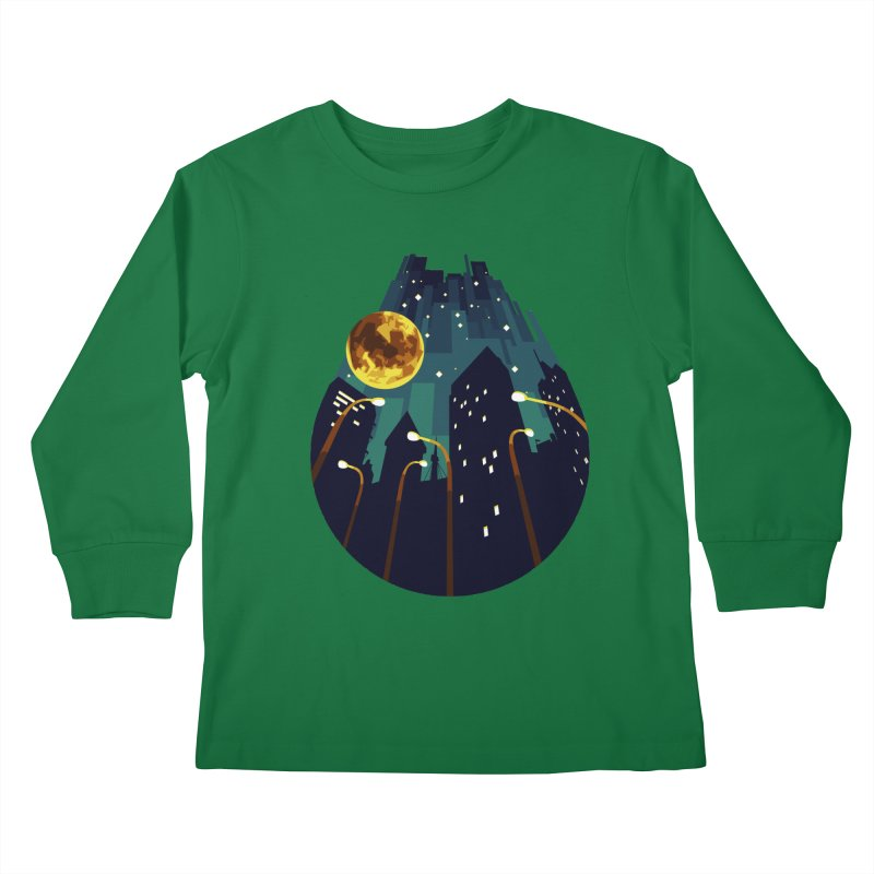 Coming Down Over Me Kids Longsleeve T-Shirt by Razual's Shop