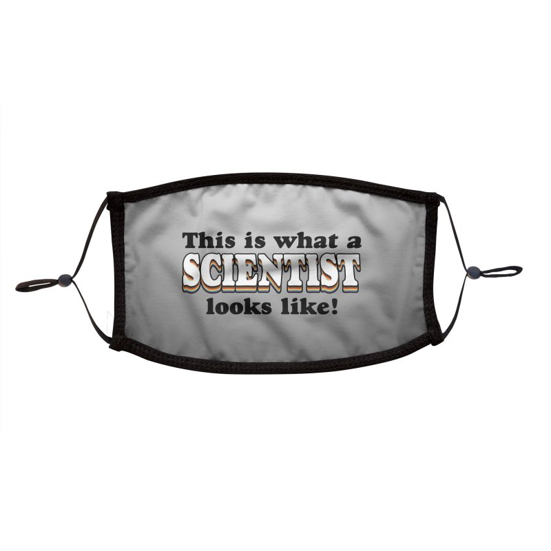 What a Scientist Looks Like! Accessories Face Mask by RB's Art Shop