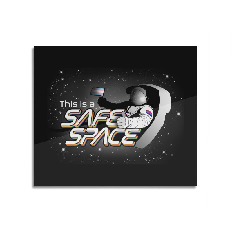 Safe Space Home Mounted Aluminum Print by RB's Art Shop