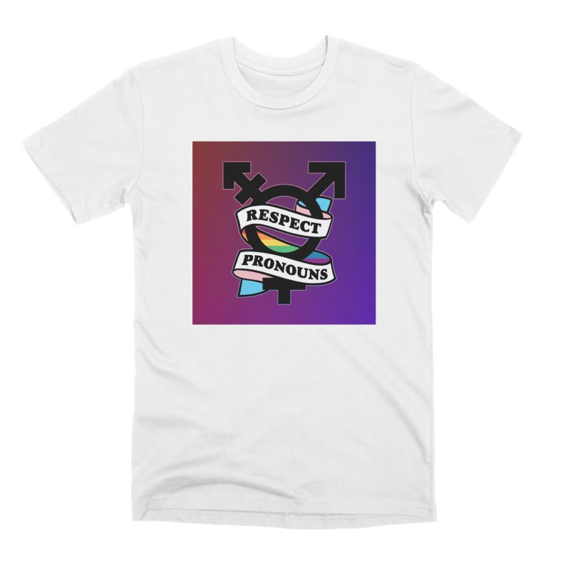 Respect Pronouns (Gradient) Men's T-Shirt by RB's Art Shop