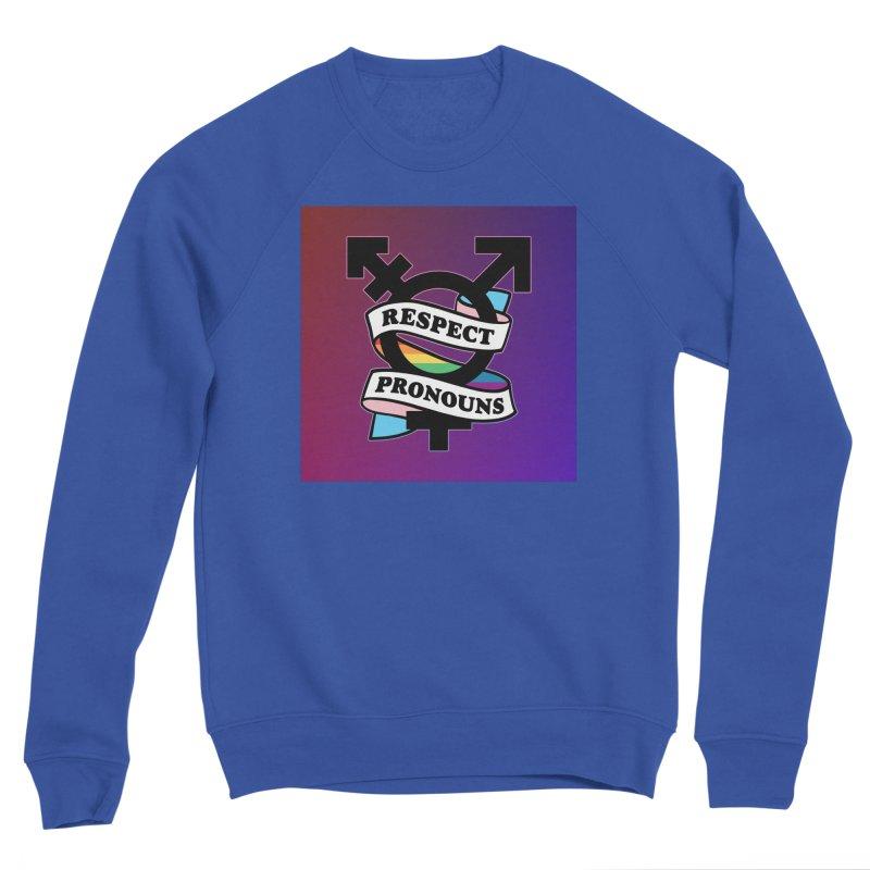 Respect Pronouns (Gradient) Men's Sweatshirt by RB's Art Shop