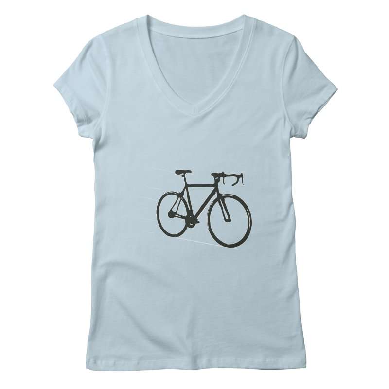 Take Me Out on the Road [Bike] Women's Regular V-Neck by rbonilla's Artist Shop