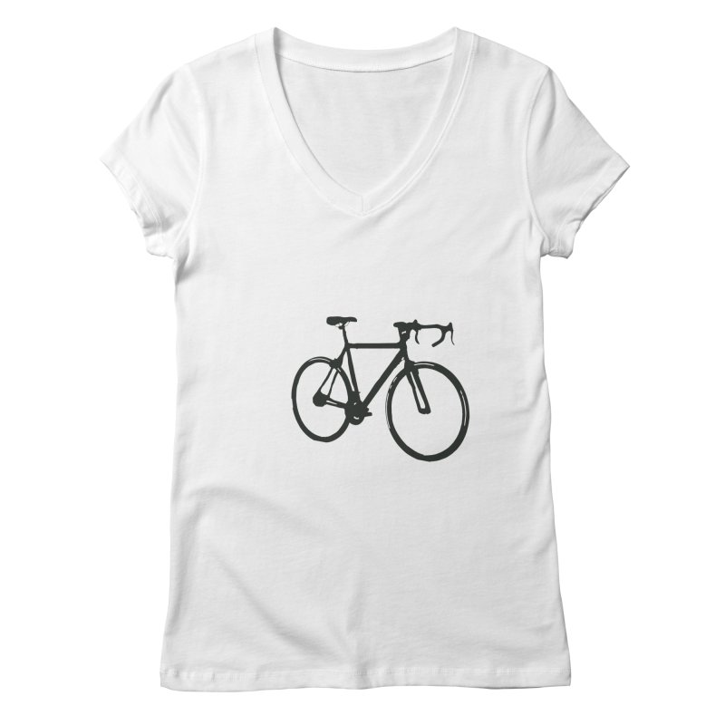 Take Me Out on the Road [Bike] Women's V-Neck by rbonilla's Artist Shop