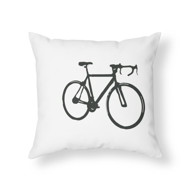 Take Me Out on the Road [Bike] Home Throw Pillow by rbonilla's Artist Shop