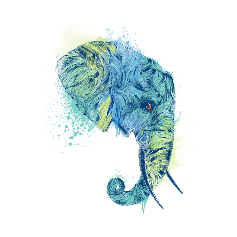 Colorful Elephant Portrait by rcaldwell's Shop