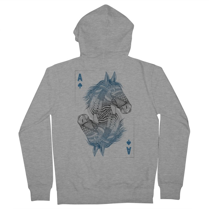 Horse Geo (Aces) Women's Zip-Up Hoody by rcaldwell's Shop