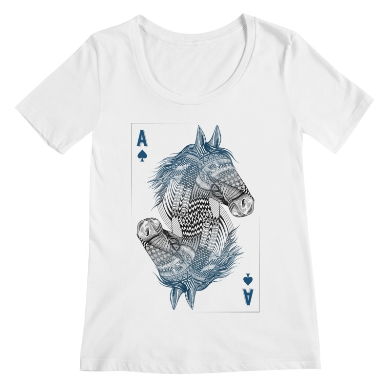 Horse Geo (Aces) Women's Scoopneck by rcaldwell's Shop
