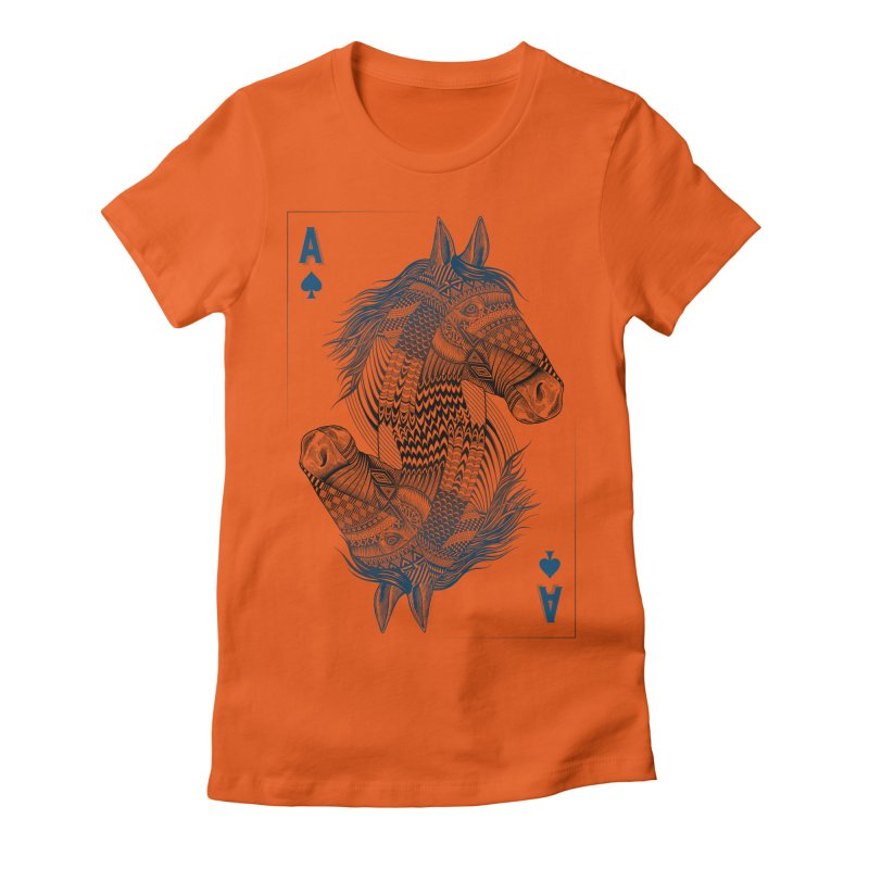 Horse Geo (Aces) Women's Fitted T-Shirt by rcaldwell's Shop