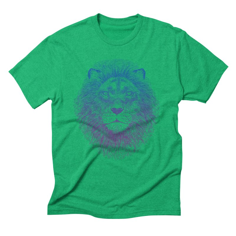 Face of a Lion Men's Triblend T-Shirt by rcaldwell's Shop