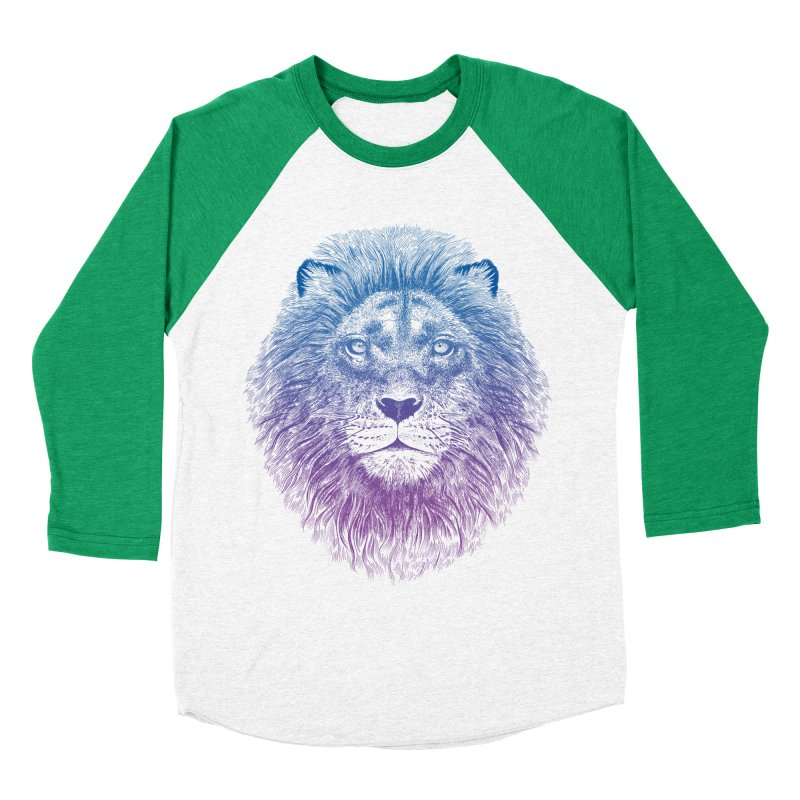 Face of a Lion Men's Baseball Triblend T-Shirt by rcaldwell's Shop