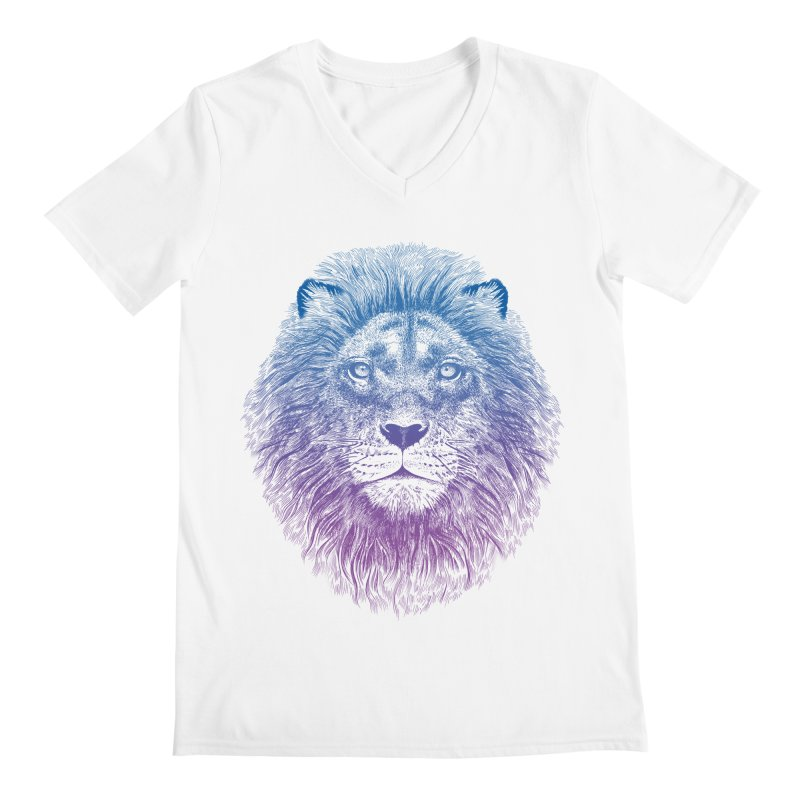 Face of a Lion Men's V-Neck by rcaldwell's Shop