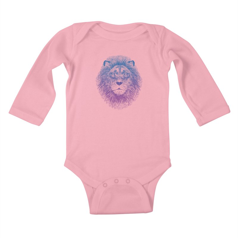 Face of a Lion Kids Baby Longsleeve Bodysuit by rcaldwell's Shop