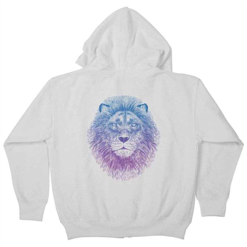 Face of a Lion Kids Zip-Up Hoody by rcaldwell's Shop