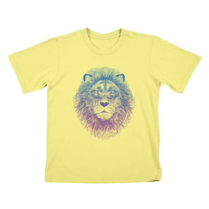 Face of a Lion Kids T-shirt by rcaldwell's Shop