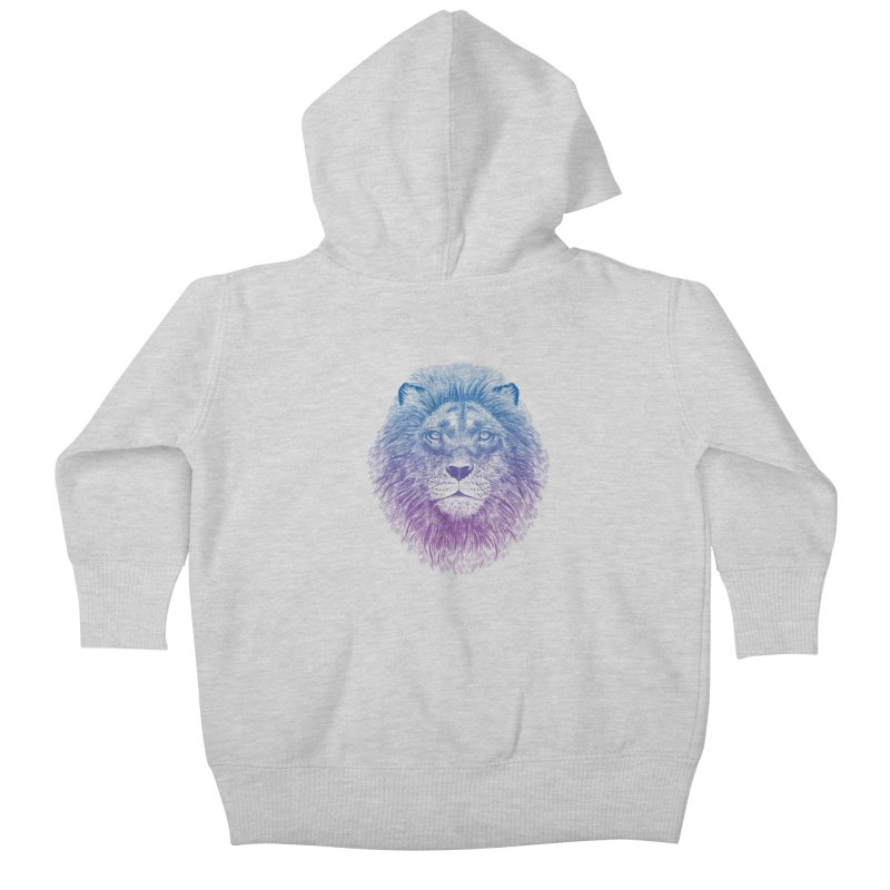 Face of a Lion Kids Baby Zip-Up Hoody by rcaldwell's Shop
