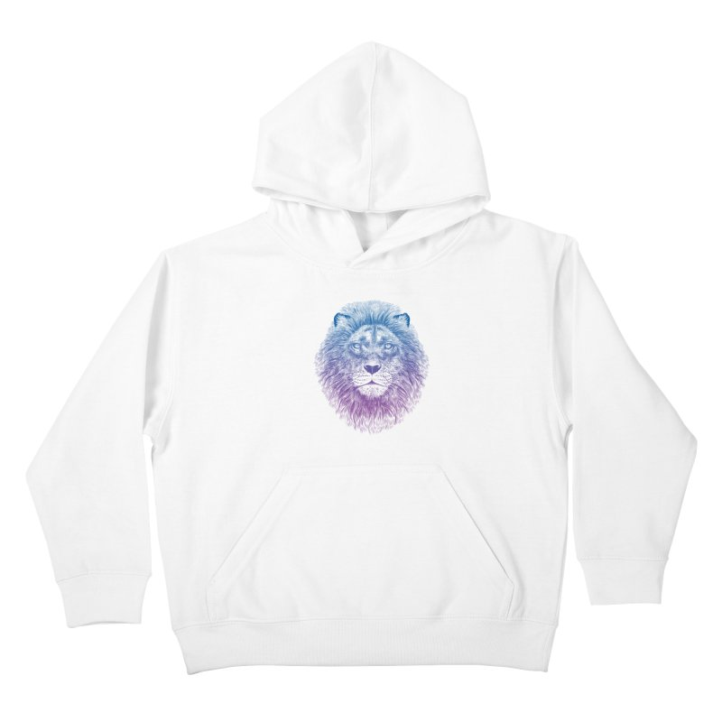 Face of a Lion Kids Pullover Hoody by rcaldwell's Shop